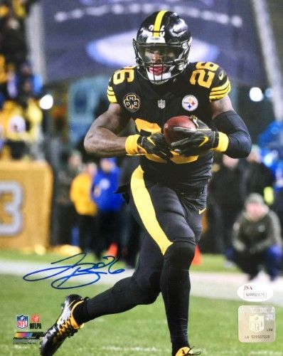 Le Veon Bell Signed 8x10 Pittsburgh Steelers Color Rush Jersey Photo ... 03cbe4729
