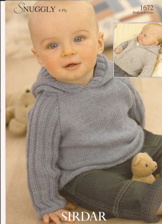 a10a04f51811 Sirdar 4 Ply Knitting Pattern 1672 Hoodies Hooded Jacket   Sweater ...