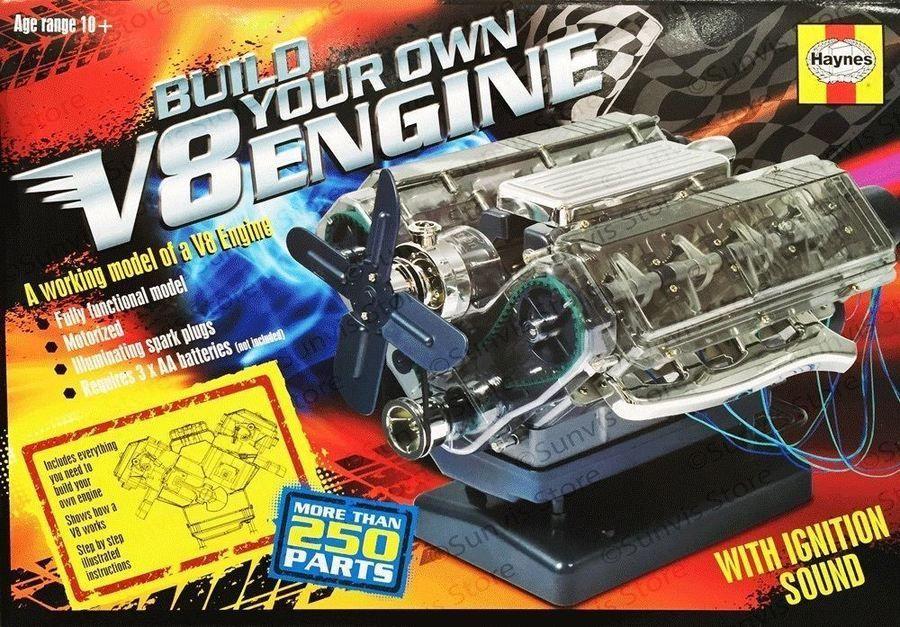 HAYNES V8 COMBUSTION ENGINE MODEL KIT BUILD YOUR OWN INTERNAL SOUNDS