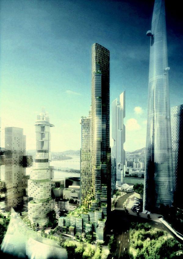 Block H of the Yongsan International Business District (YIBD) / Kohn Pedersen Fox Associates
