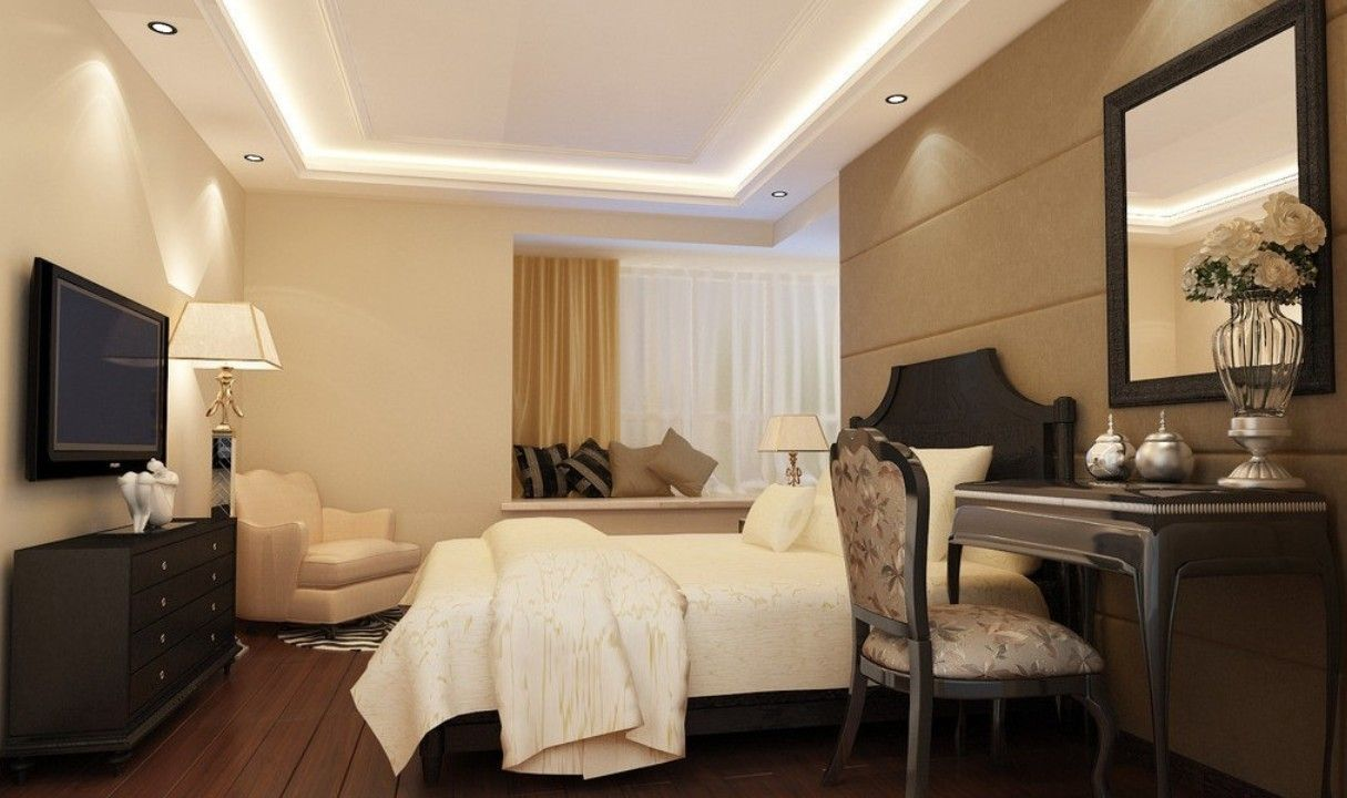 Modern ceiling design modern creative bedroom ceiling for Bedroom theme design