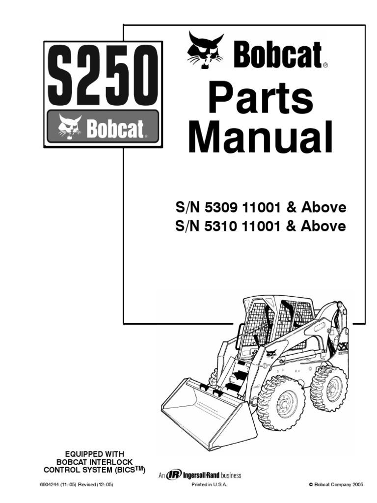 Fine , Bobcat S250 Parts Catalog Pdf Manual Download