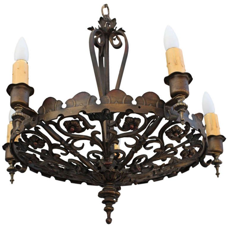 Beautiful 1920 S Spanish Revival Chandelier Sold This One Is