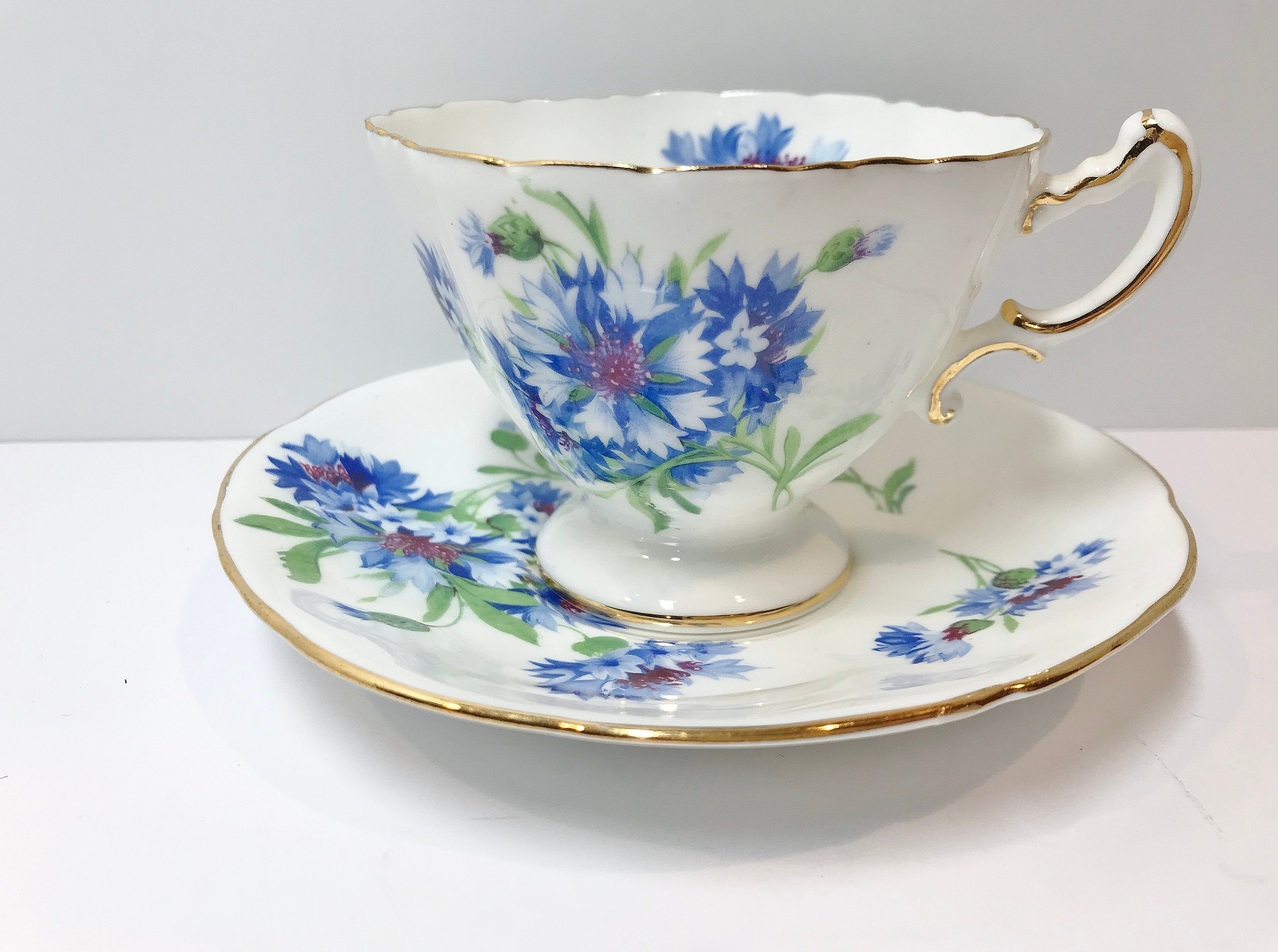 Romantic Hammersley Tea Cup and Saucer, English Teacups, Floral Tea Cups, Antique Tea Cups Vintage, English Bone China Cups, Flowered Cups #teacups