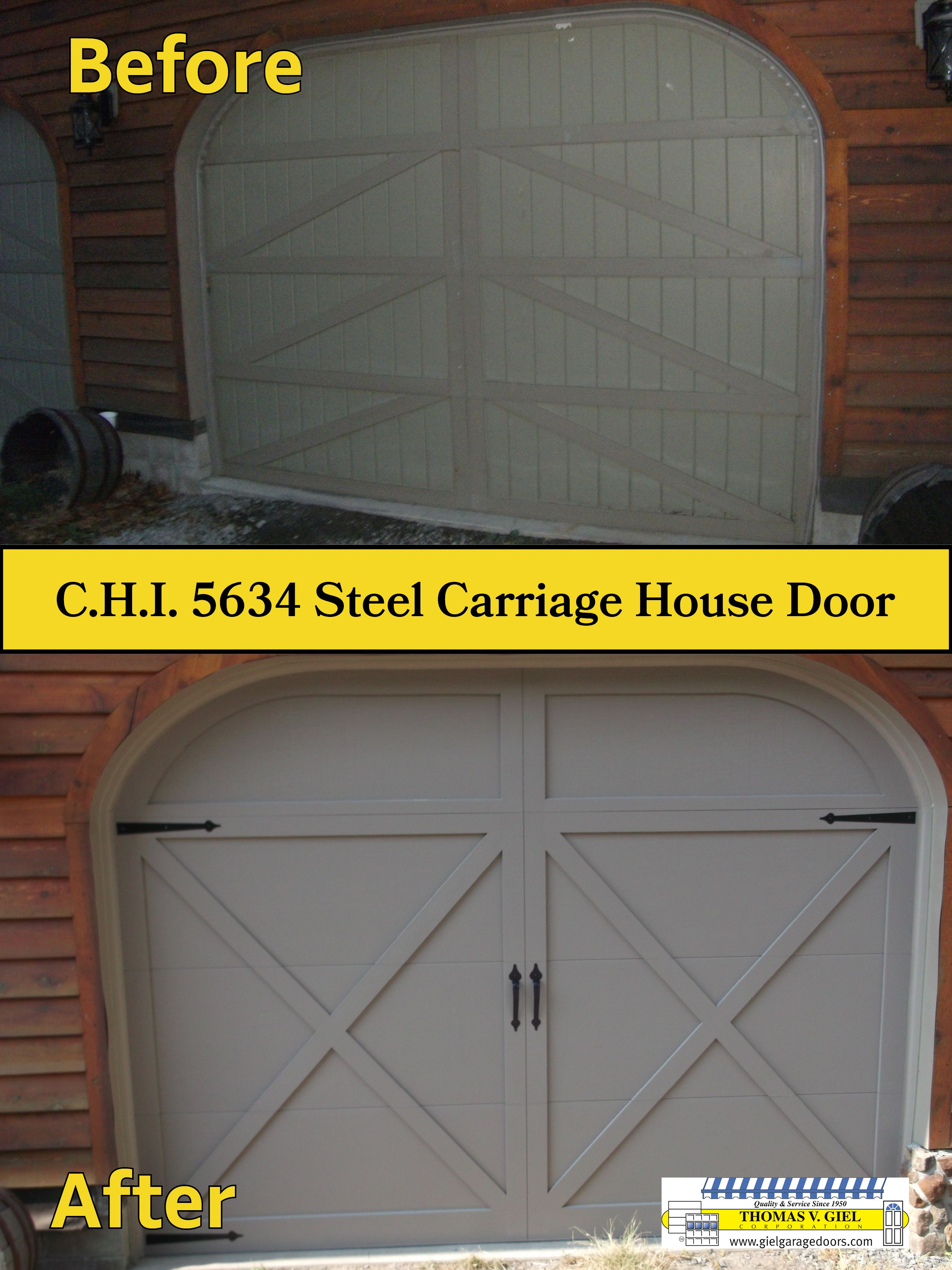Carriage garage doors without windows  CHI  Before and After  Garage Doors Before u After  Pinterest