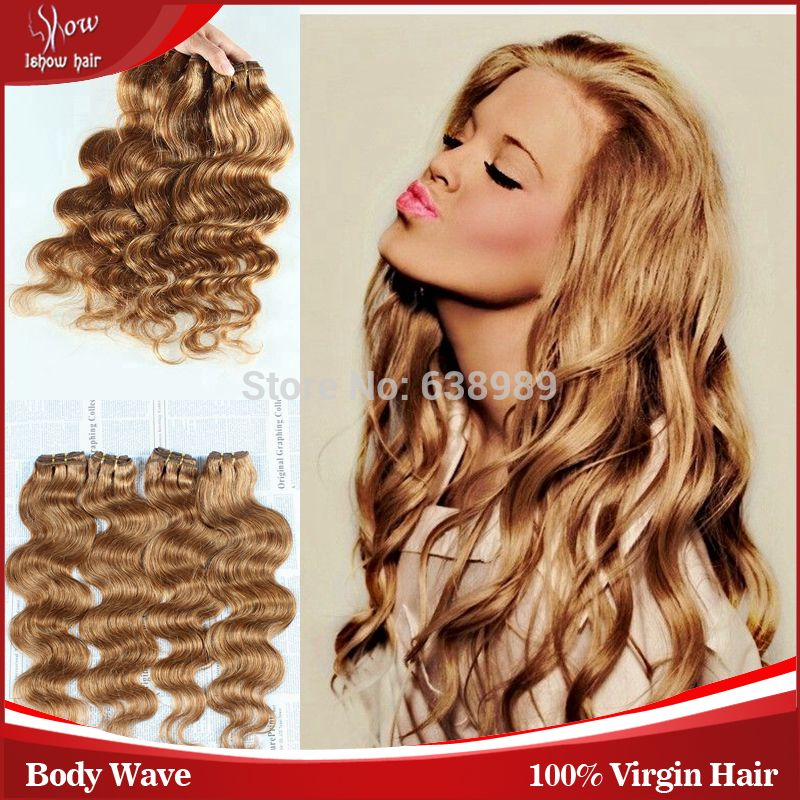 Ishow Hair Products Honey Blonde Brazilian Hair Extension 100