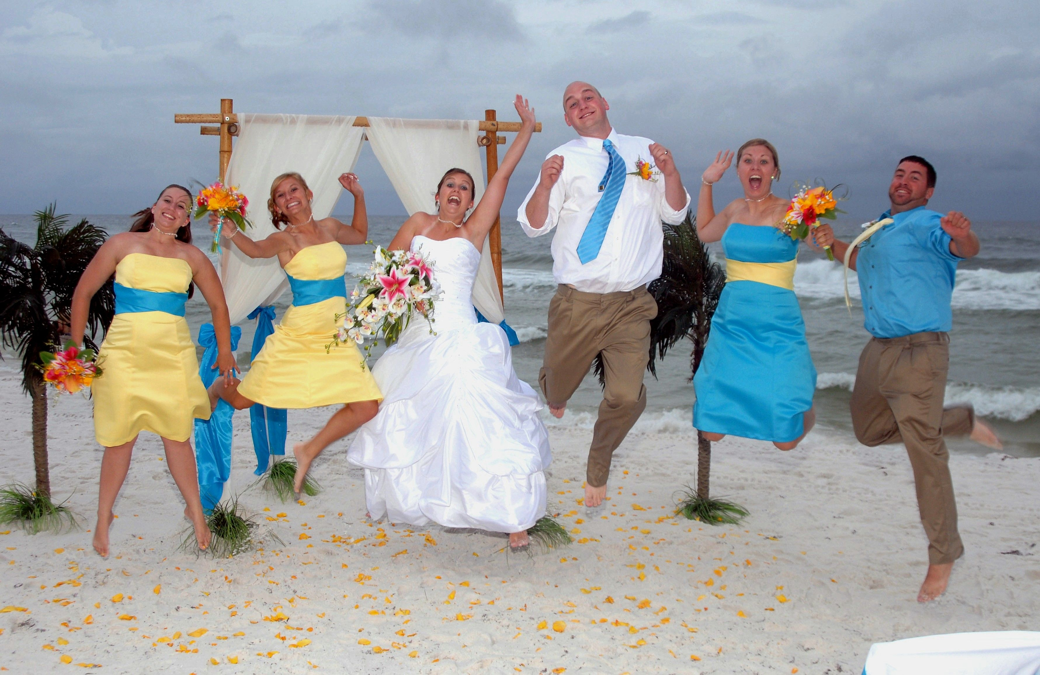 Beach Wedding Party Florida Barefoot Weddings Destin Fort Walton Okaloosa