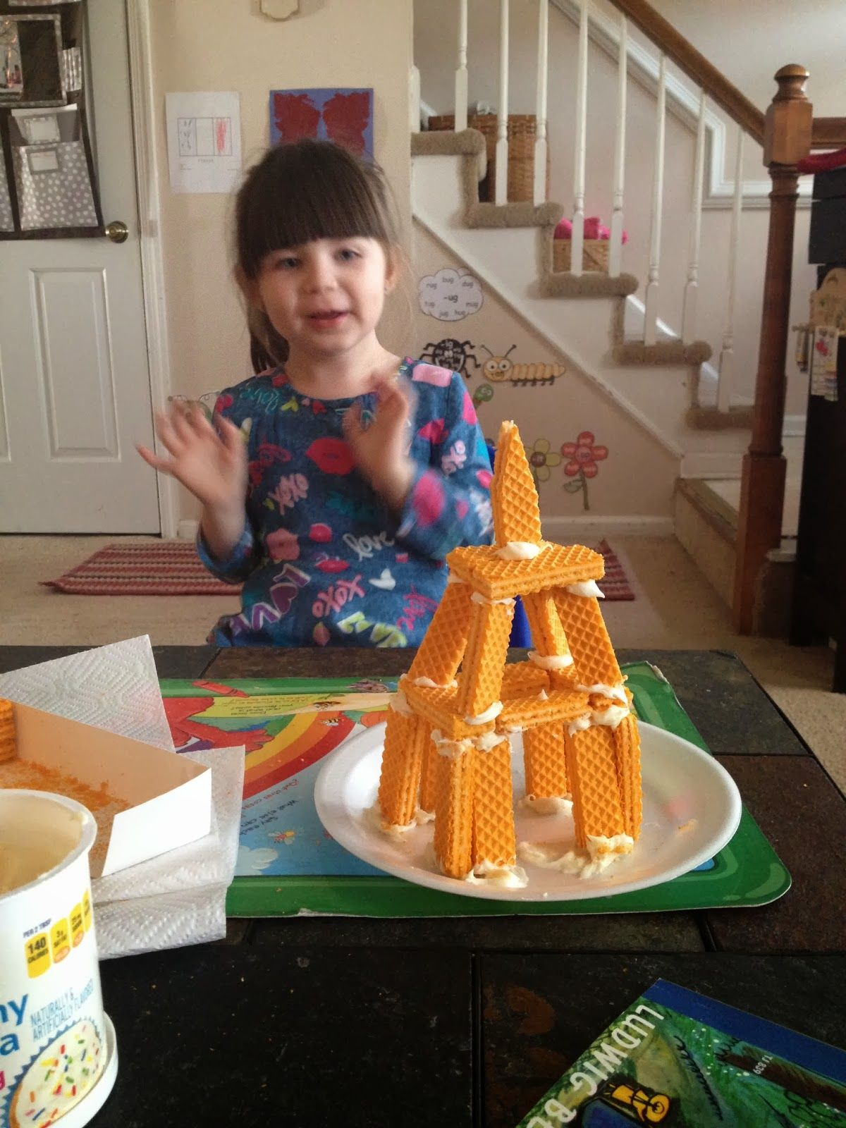 Eiffel Tower Made Of Wafer Cookies Coastal Breezes