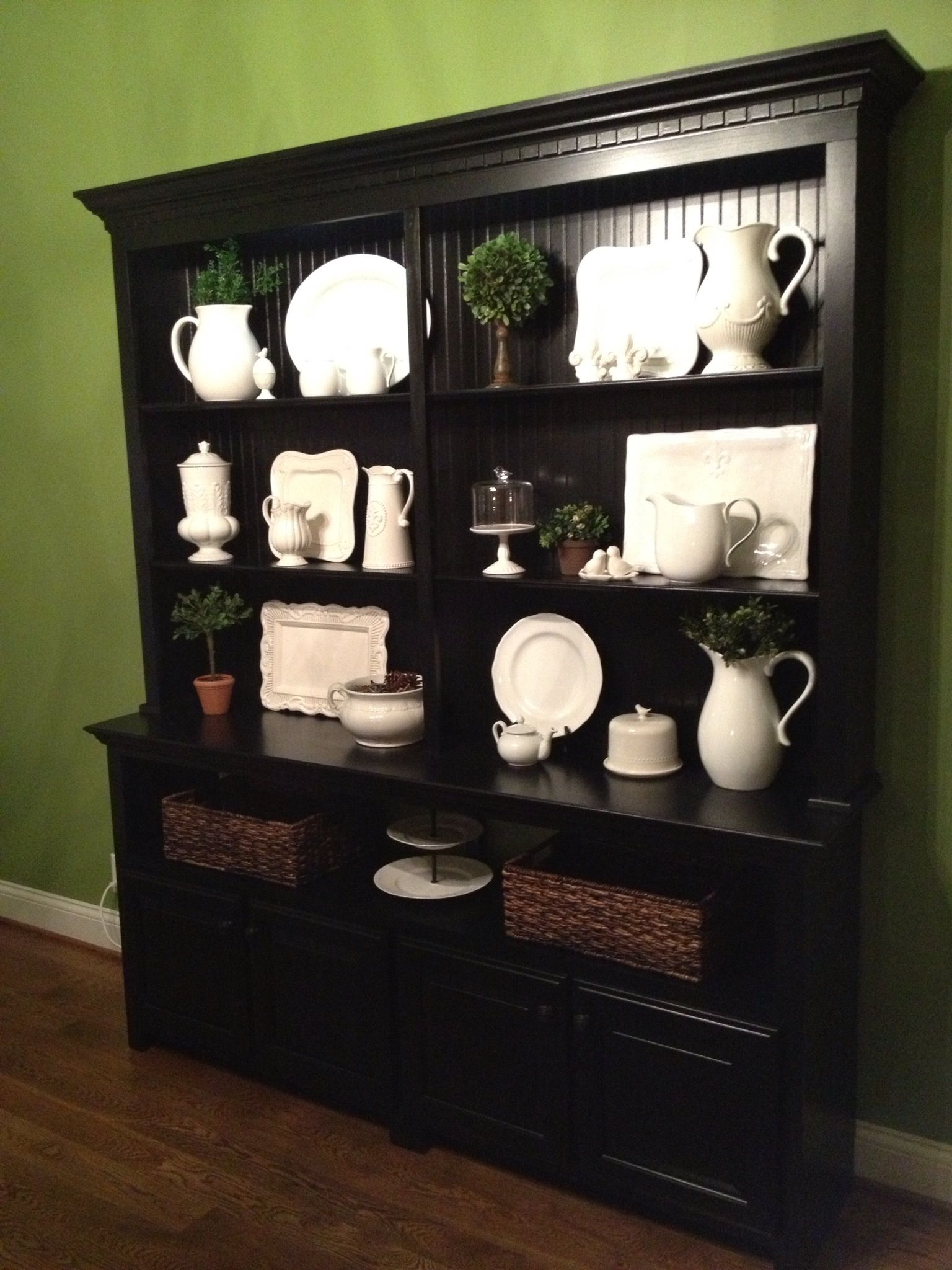 Dining Room Hutch...not So Dark But Love The Way This Displays The China
