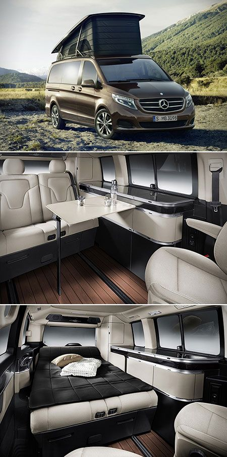 You Could Either Go Camping The Traditional Way Or In Style With The Mercedes Benz Marco Polo Marco Polo Mercedes Van Interior