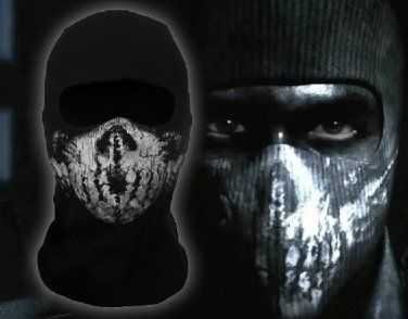 Call Of Duty Ghosts Mask Logan Skull Black Cosplay Cs Halloween