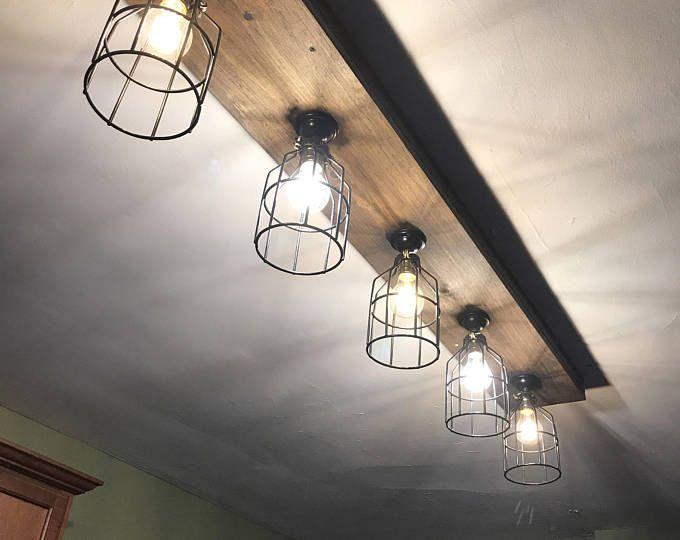 Rustic Farmhouse Decor Farmhouse Ceiling Light Cage Light