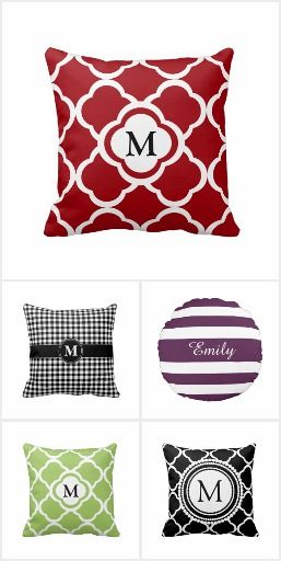 Monogram Pillows For Your Home #zazzlingfriends
