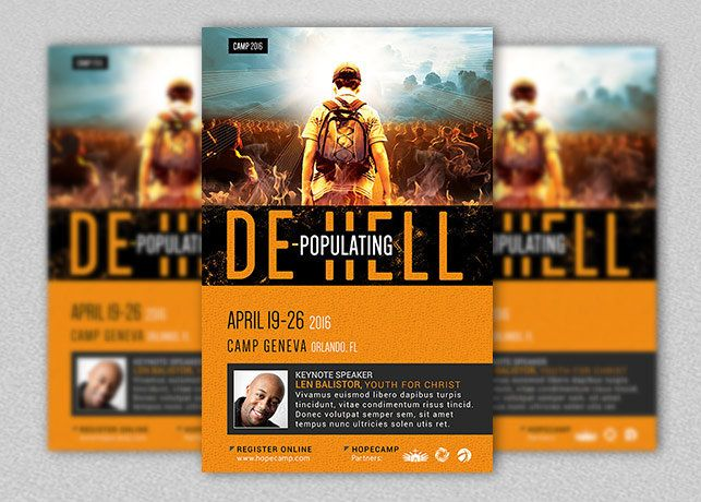 Youth Camp Church Flyer and Poster Template Layouts Pinterest - christian flyer templates
