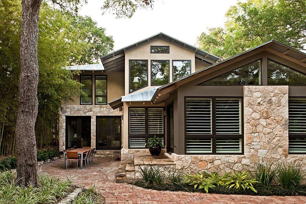 Fachada y dise o de interiores de casa r stica hermosa for Fachadas de casas de un solo piso