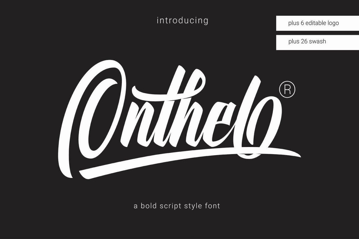Onthel Logotype Bold Script Free Fonts Download Brush Font
