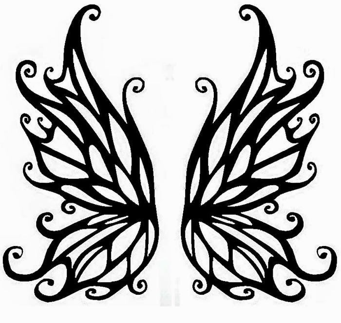 printable fairy wings template fairy wings tattoo stencil 28 click for full size art. Black Bedroom Furniture Sets. Home Design Ideas