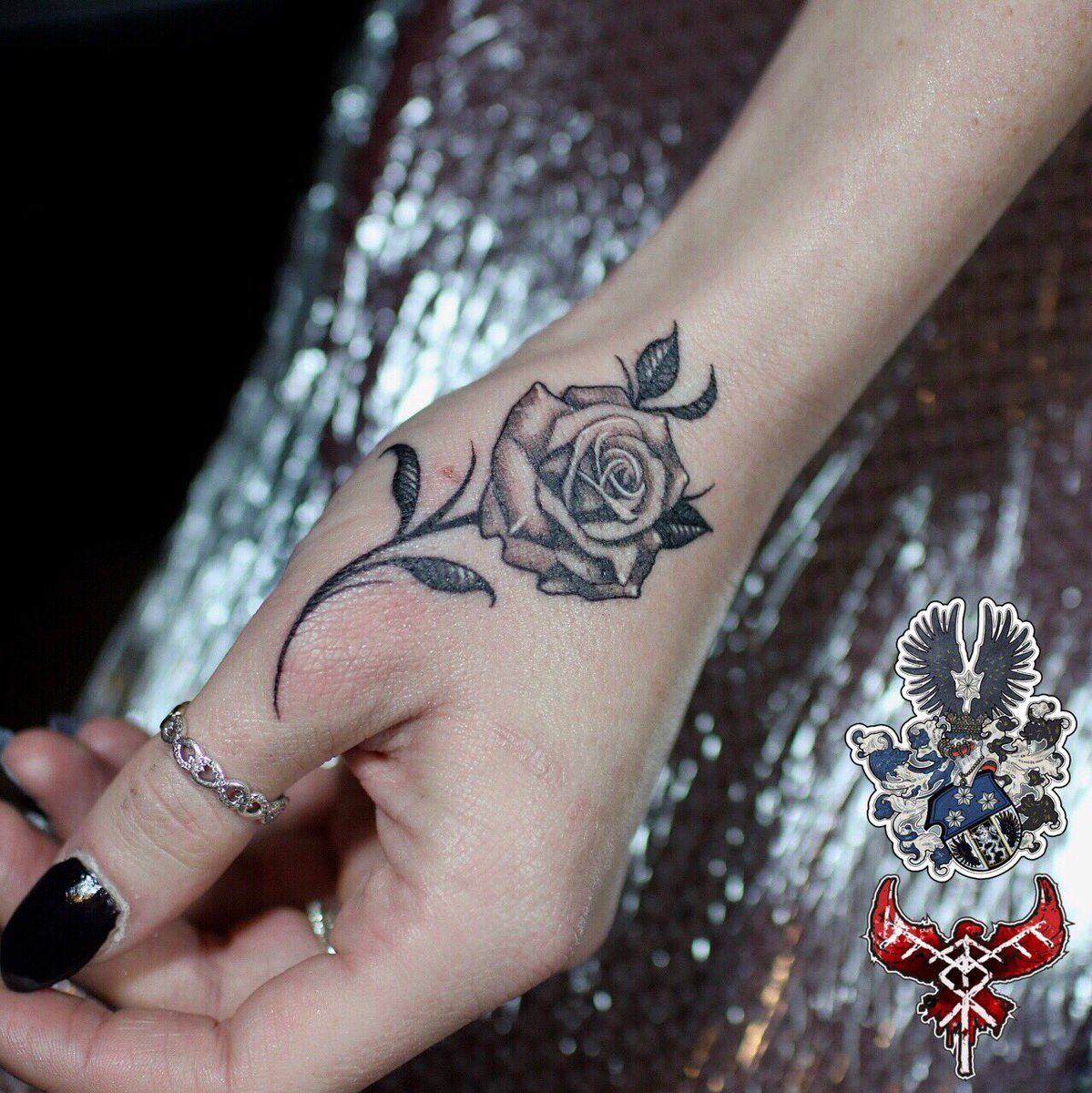 Small Hand Rose Tatto Small Hand Tattoos Hand Tattoos For Women Hand Tattoos