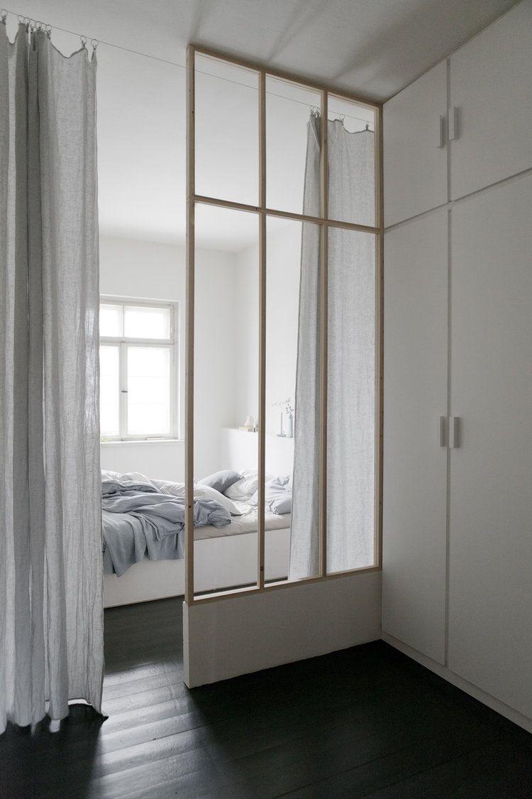 Modern minimal bedroom designed by german creative lab studio oink