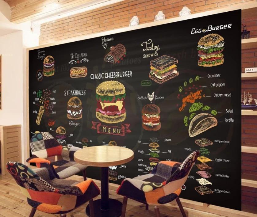 3D Hamburger Cake 954 AJ Wallpaper Custom murals, Shop