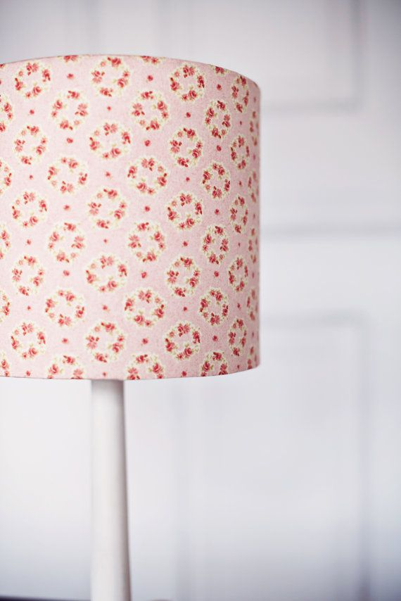 Pink lampshade floral lampshade grey and pink by shadowbrightlamps lamp shade pastel pink lamp floral lampshades by shadowbrightlamps mozeypictures Gallery