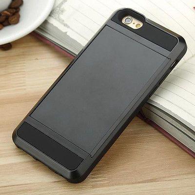 Card pocket ShockProof Slim Hybrid wallet case for iPhone 6/6s/Plus 5/S/C/4/S/SE