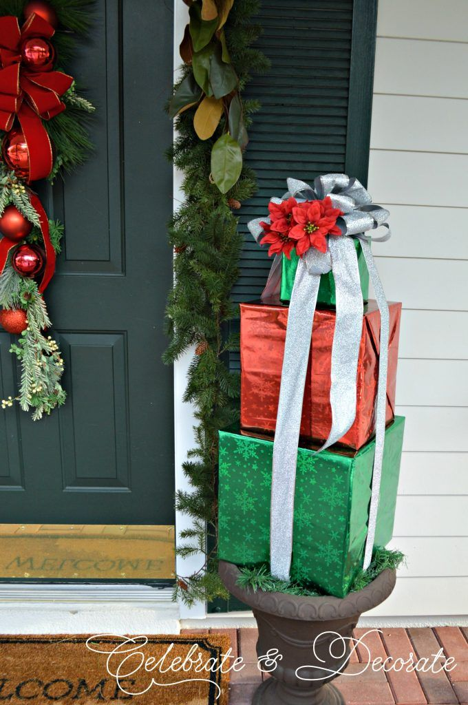 Diy Christmas Decorations With Boxes Celebrate Decorate Christmas Boxes Decoration Christmas Diy Outside Christmas Decorations