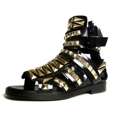Givenchy Studded Mens Gladiator Sandals Want Studded Gladiator Sandals Gold Outfits For Men Gladiator Sandals