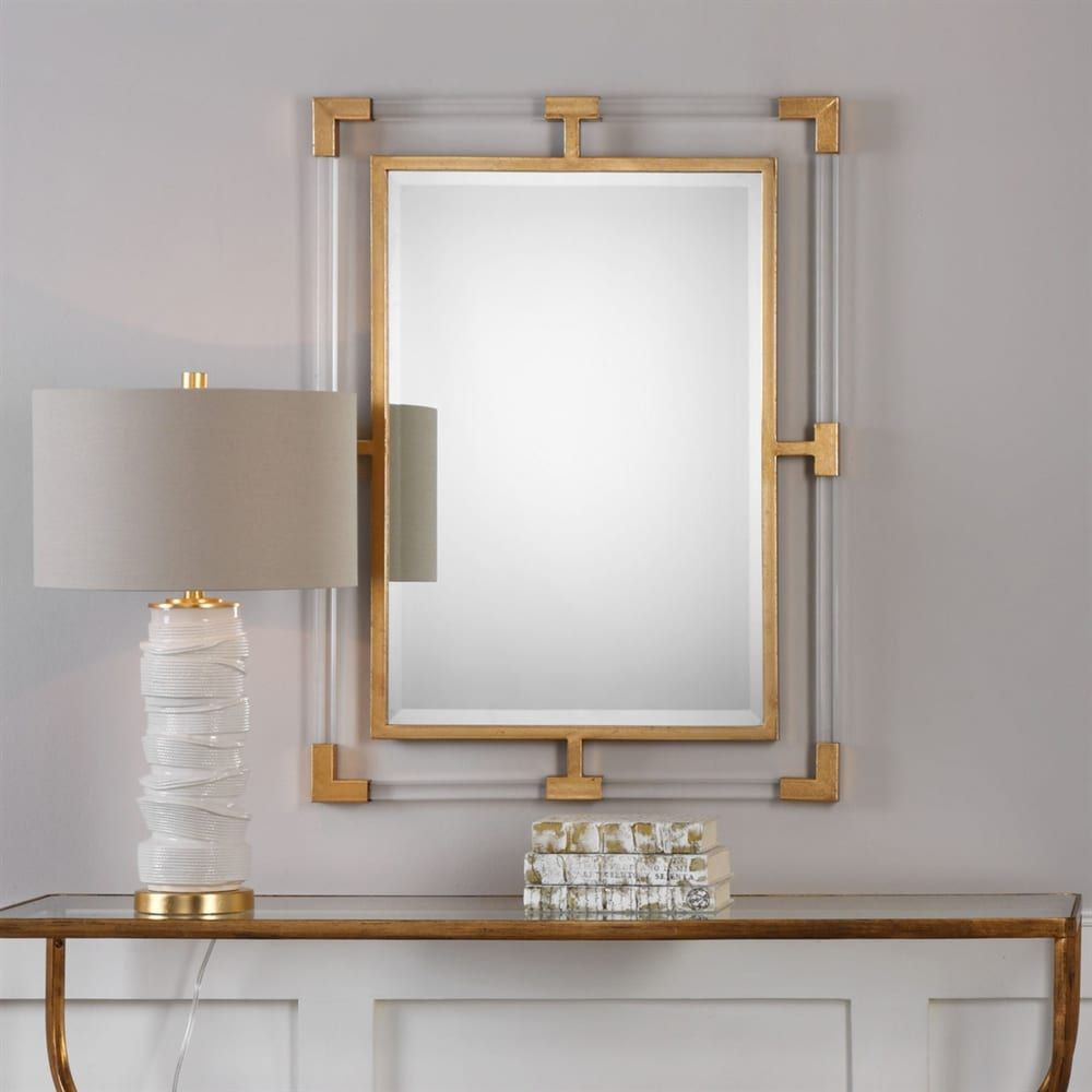 Shop Castle Crane Castle Crane Balkan Modern Gold Wall Mirror At The Mine Browse Our Wall Mirrors Gold Mirror Wall Mirror Wall Contemporary Wall Mirrors