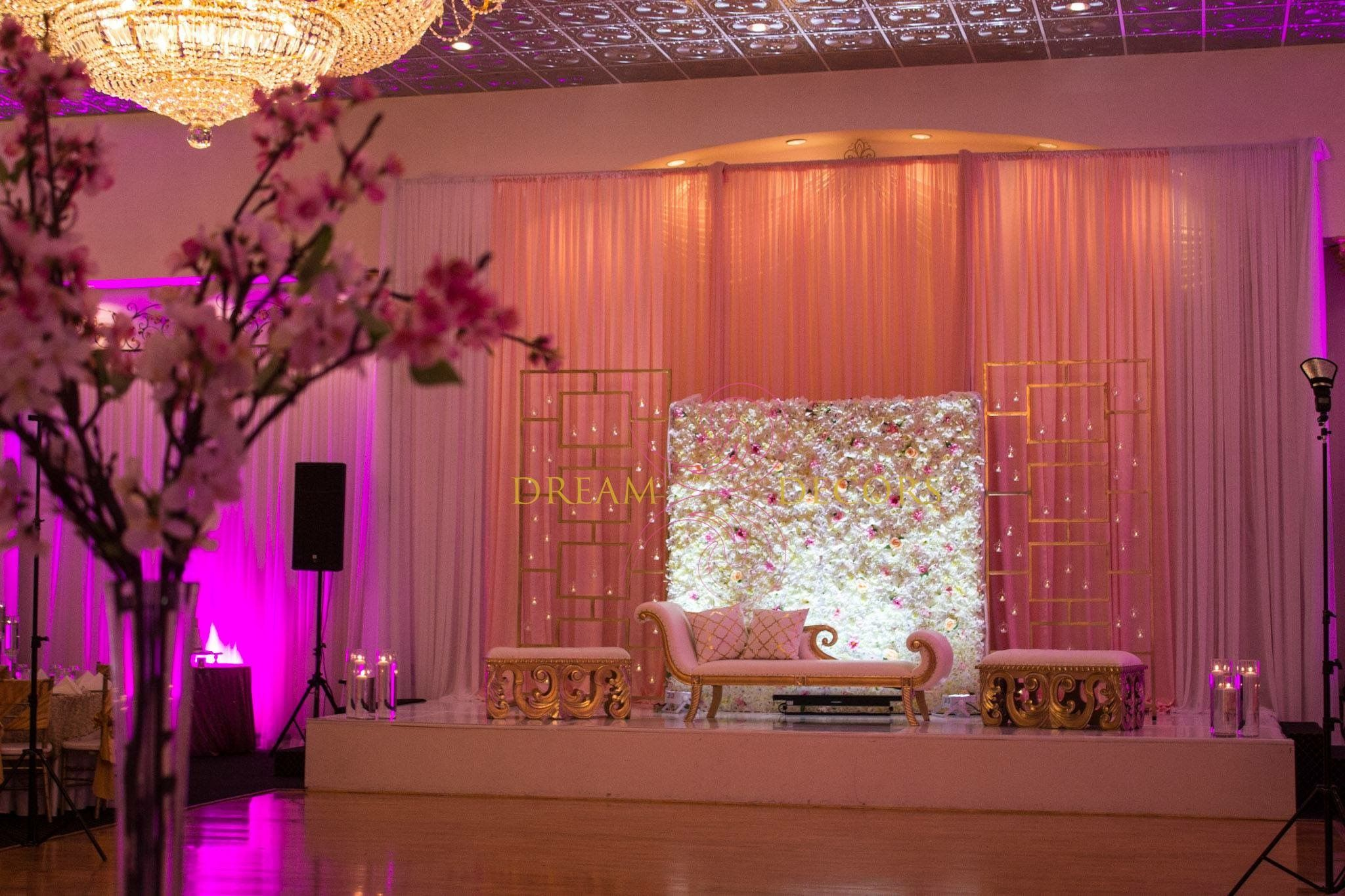 Wedding stage decoration design  Pin by Bola Njinimbam on My Dream Wedding  Pinterest  Desi and