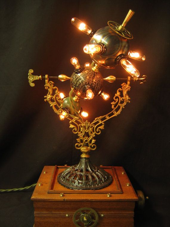 Pin By Michael Wuchitech On Steampunk Steampunk Lighting Steampunk Lamp Steampunk Decor