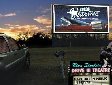 Blue Starlite Mini Urban Drive In Drive In Movie Theater Drive