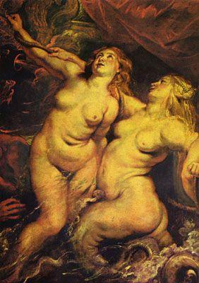 Gemaeldezyklus fuer Maria de Medici - Koenigin von Frankreich - Szene Ankunft der Maria de Medici in Marseille - Detail von Peter Paul Rubens