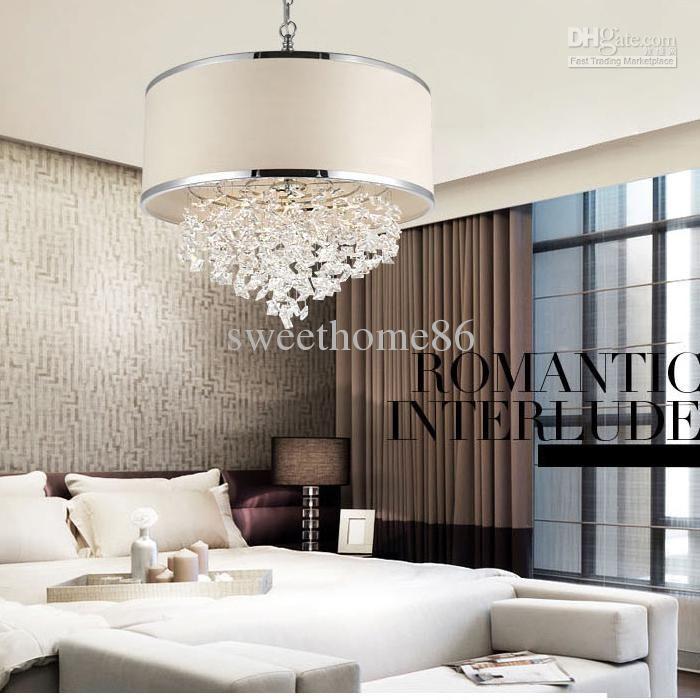 Romantic Crystal Lights Bedroom Chandelier Lampshade Ceiling Lamp
