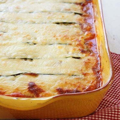 Zucchini Lasagna- enjoy all the flavors of traditional lasagna, but in a healthier version!