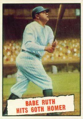 1961 Topps Babe Ruth 401 Baseball Card Value Price Guide Babe Ruth Baseball Baseball Cards Babe Ruth