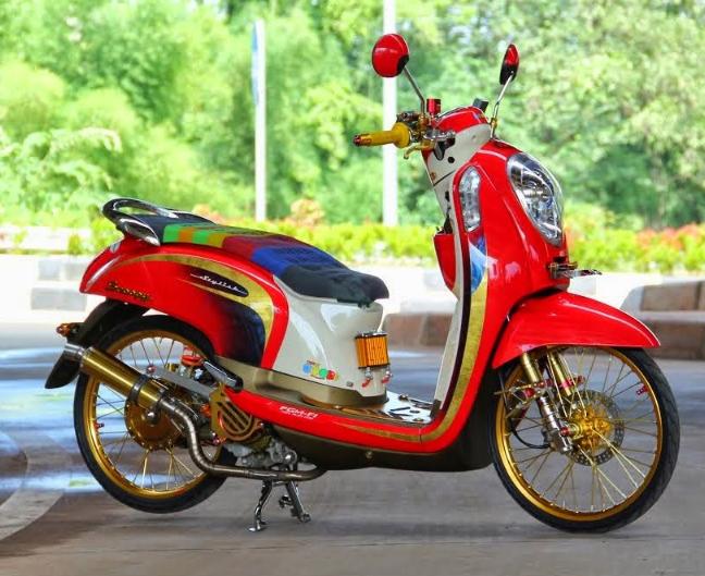 Modifikasi Honda Scoopy Fi Ring 17 Motor Honda Kendaraan