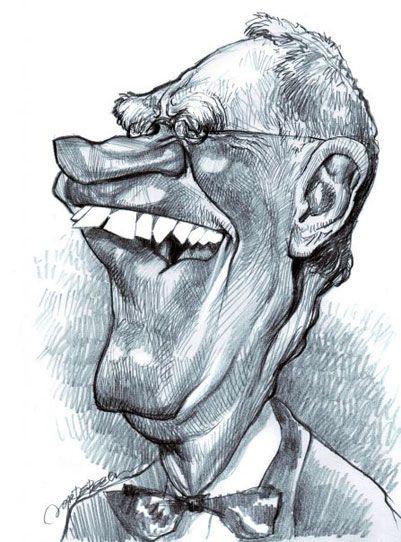David Letterman , illustration of Jan Op DeBeeck https://www.facebook.com/CharacterDesignReferences