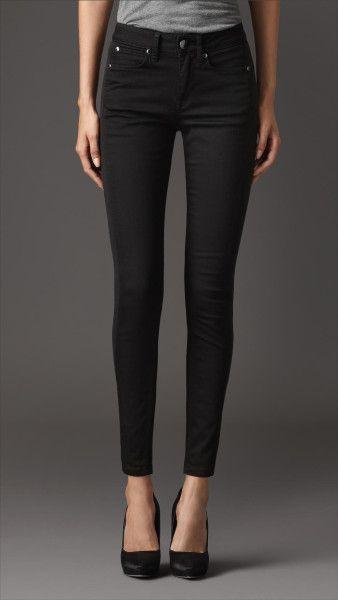 184c3e39d1b25 Women s Skinny Fit Low-rise Deep Black Jeans