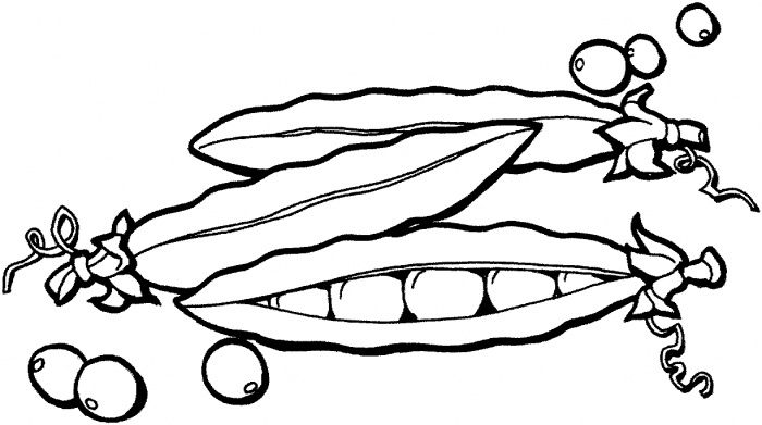 Peas In A Pod For An Embroidery Pattern Coloring Pages