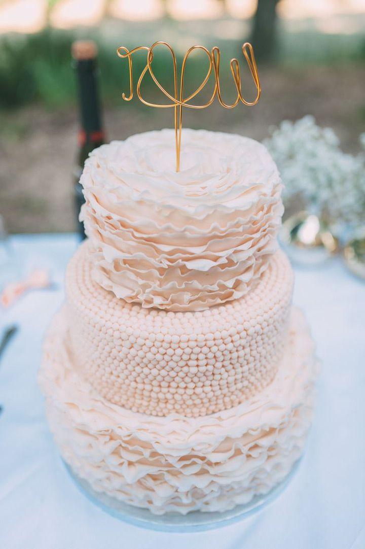 Blush Wedding Cakes For The Discriminating Bride
