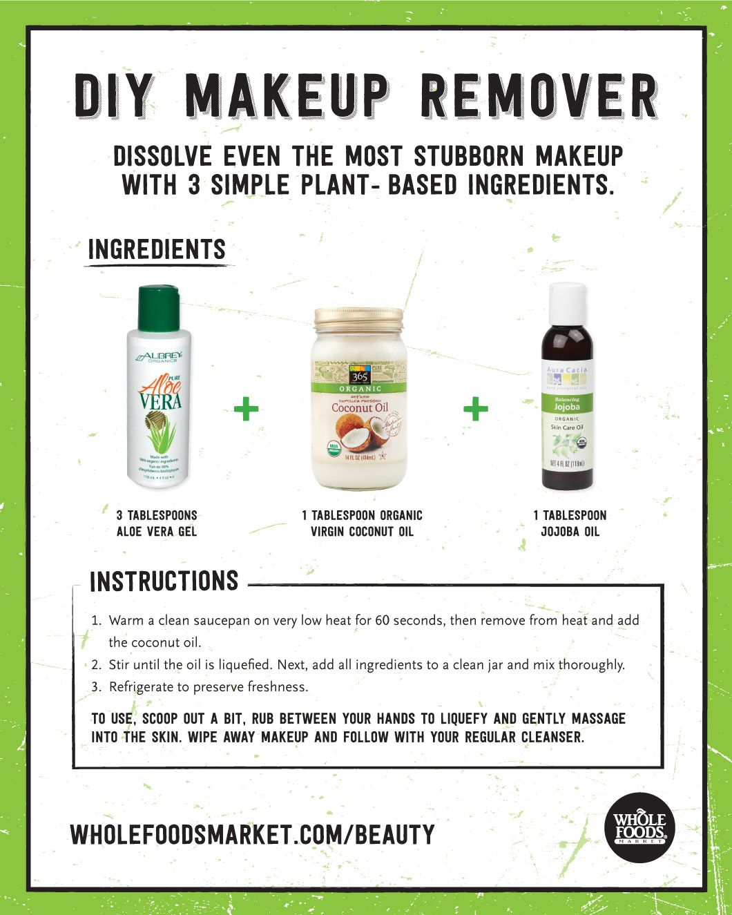 Values Matter Diy makeup remover, Whole food recipes