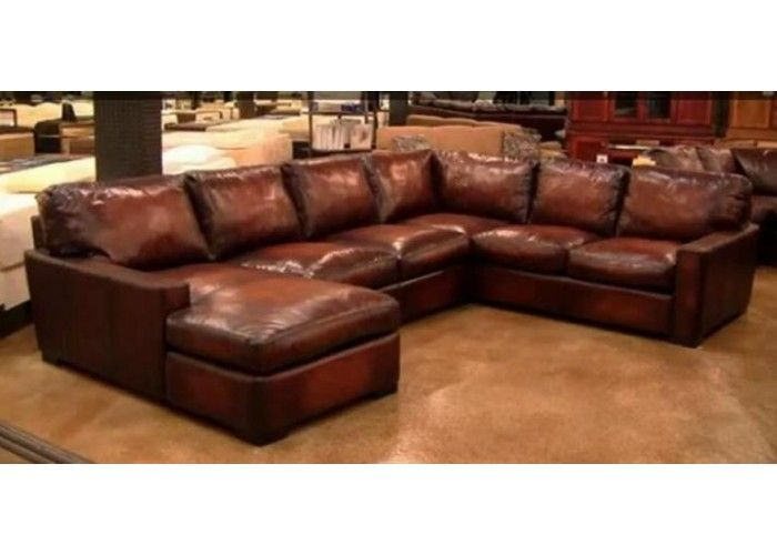 Napa (Maxwell) Oversized Seating Leather Sectional in 2020 ...