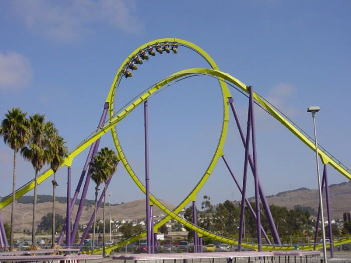 Medusa Photo From Six Flags Discovery Kingdom Amusement Park Rides Six Flags Roller Coaster