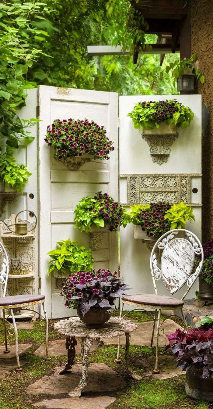 Ausgefallene Gartendeko Selber Machen Upcycling Ideen Diy Deko Alte  Fesnterrahmen Diy Projekt Sichtschutz Raumteiler Ideen