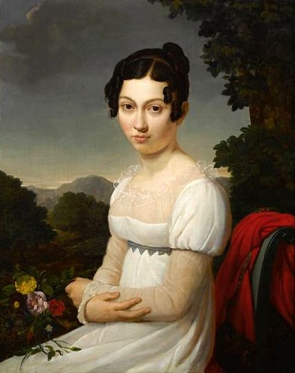 Marie-Nicole Ponce-Camus, A portrait of a young lady in white, 1819