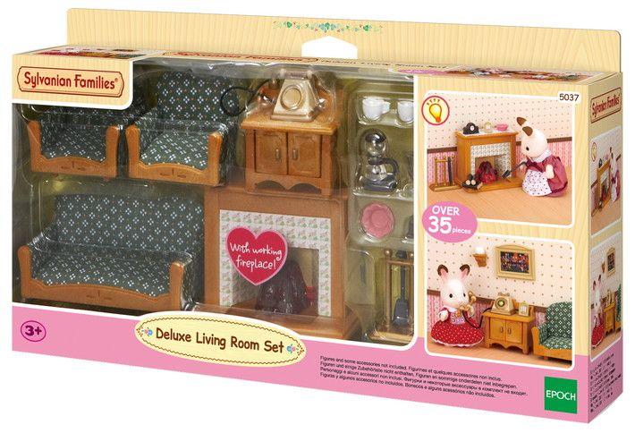 Deluxe Living Room Set Sylvanian Families In 2020 Living Room Sets Sylvanian Families Room Set