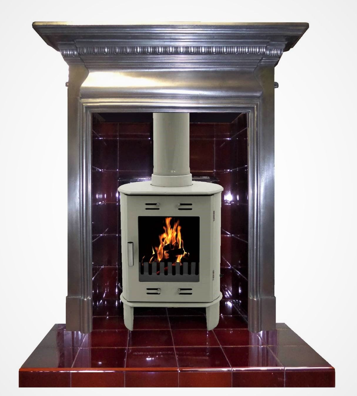 Complete stove fireplace for sale .Polished original cast ...