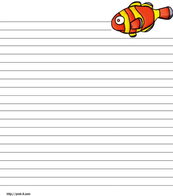 firing dragon free printable kids stationery free printable writing paper for kids regular lined - Papers For Kids