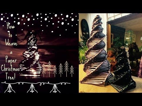 How To Make A Paper Christmas Tree Tutorial Recycling Newspaper My Crafts And Diy Pro Paper Christmas Tree Paper Christmas Decorations Hanger Christmas Tree